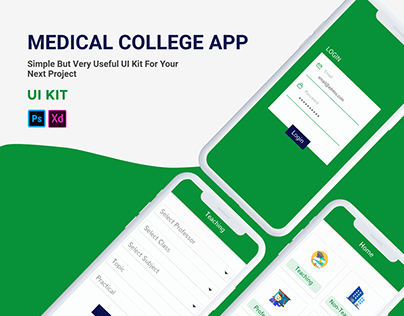 medical college lecture app ui kit