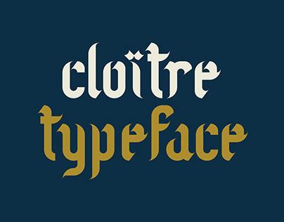 Cloître modular typeface