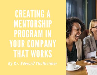 Corporate Mentorship Programs Dr EdwardThalheimer