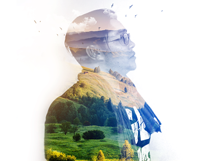 Efecto Doble Exposición en Photoshop | #LaCosaEsSimple