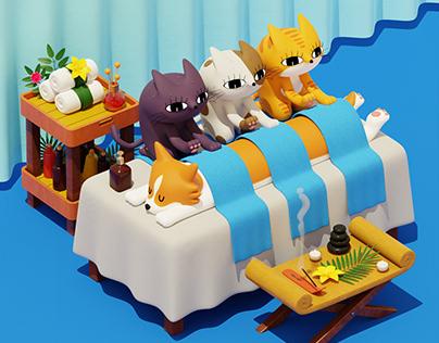 Cat Spa Troika