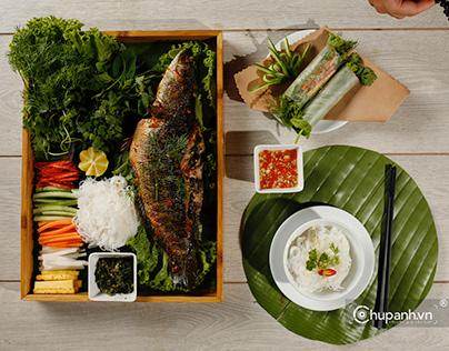Chụp ảnh món ăn nhà hàng Vị Xưa