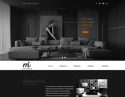 Website development for an interior design firm