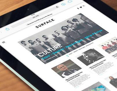 Surface Mag - Le site Web