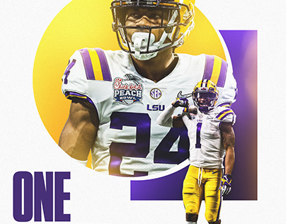 """LSU Football """"One Month"""" Graphic"""