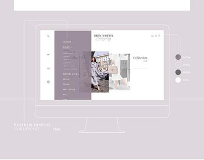 сайт-каталог для магазина Iren Vartik