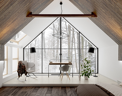 Landform House bedroom