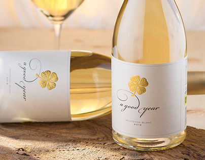 A Good Year wine label revamp by the Labelmaker