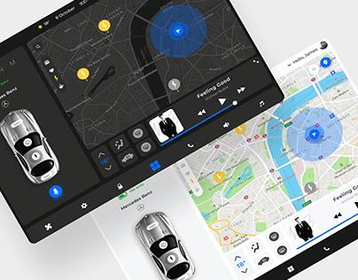 Car Control Dashboard UI Design