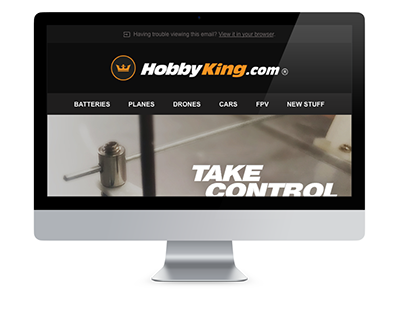 HobbyKing Servo Sale Electronic Direct Mail Design