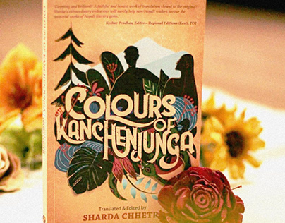 Colours of Kanchenjunga- Book Cover Illustration