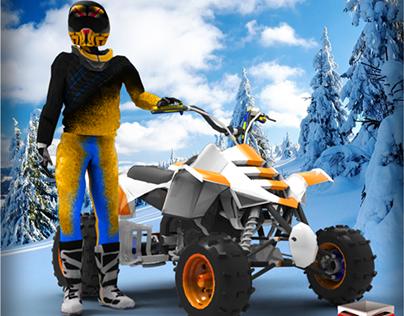 ATV Snow Quad Bike