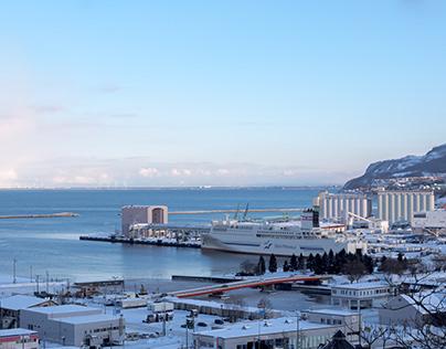 Sea of Japan seen from Suitengu shrine 2021