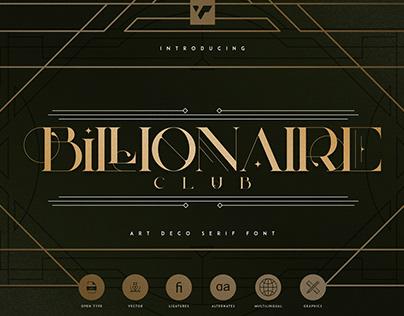 Billionaire Club serif   Free Download