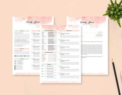 2 Page Resume CV & CoverLetter Template