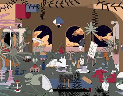 Concept Illustration for Siam Paragon