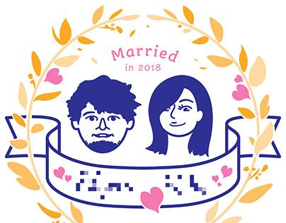 Wedding Anniversary Logo