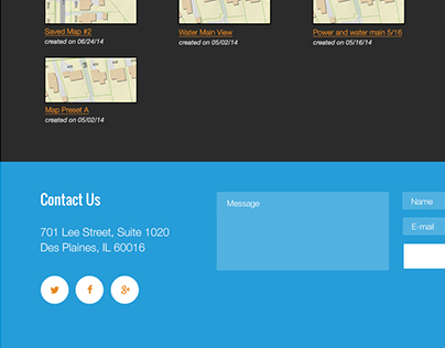 GIS web application mockups and style guide