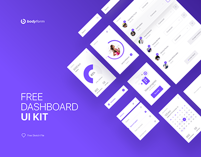 Bodyform: Fitness App UI Kit Freebie