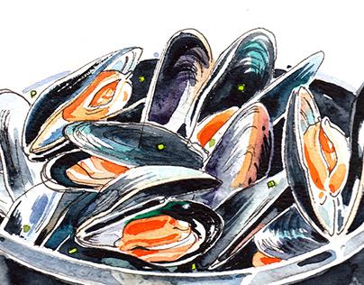 Food watercolours