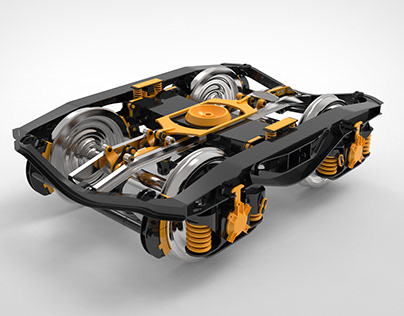 Train Chassis Modeling and Rendering