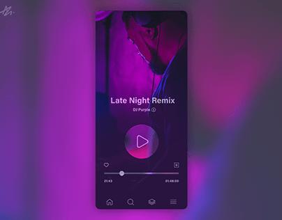 Music Player · App design