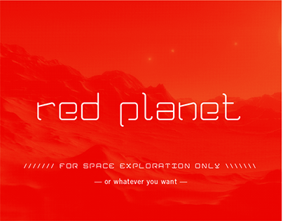 red planet - typeface