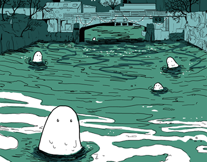 Gowanus Canal Monster New Years Cards