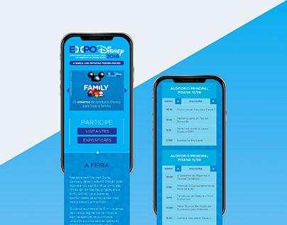 Diseño para Web Expo Disney Brasil 2016