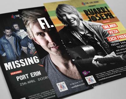 The Live Room - Branding & Poster Design