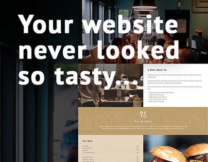 Total Cafe & Restaurant Single Page Web Design
