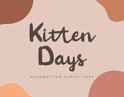 Kitten Days - Handwritten Font (Free Download)