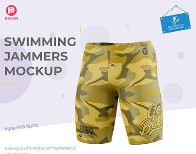 Men's Swimming Jammers Mockup