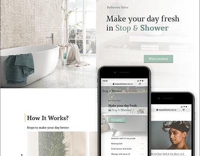 Stop & Shower   Website Design