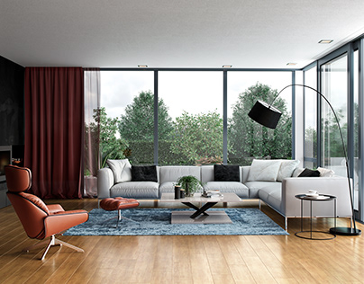 Living Room In Country House