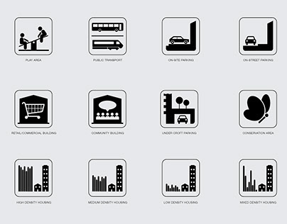 Urban Design Masterplan infographics