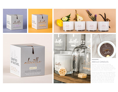 Abeille Candles - Packaging Design