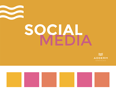 Social media para Adderm Dermatologia
