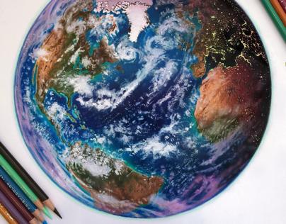 Mixed Media Earth Study