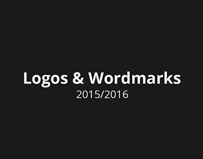 Logos and Wordmarks 2015/2016