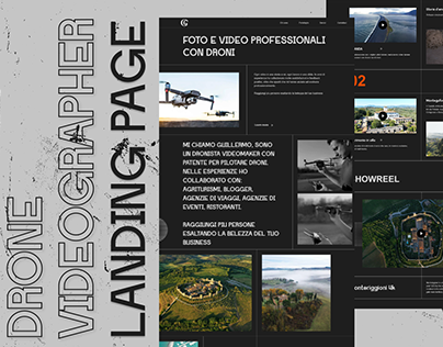 Drone videographer landing page redesign