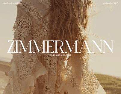 ZIMMERMANN — redesign website