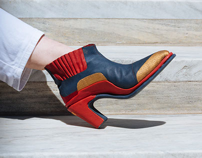 Digitally Embroidered Leather Chelsea Boot