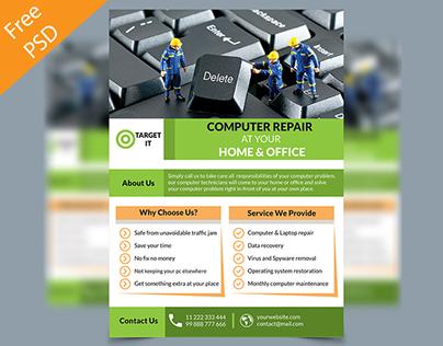Computer Repair Flyer freebie on Behance – Computer Repair Flyer Template