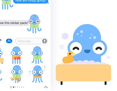 Eliot - Funny Octopus Stickers
