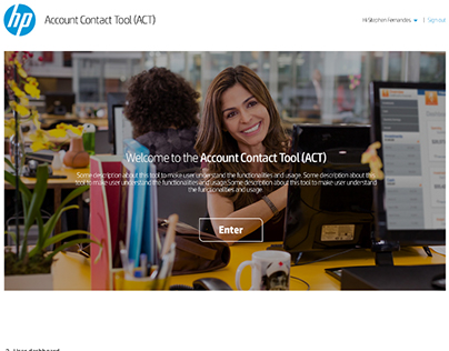 UX Design for Account Contact Tool (ACT)