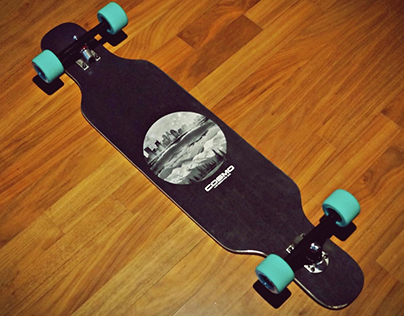 Eclipse 40, Longboard collage design