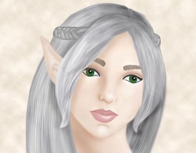 Portrait of an Elven Woman