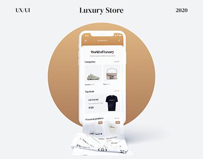 luxury store mobile app