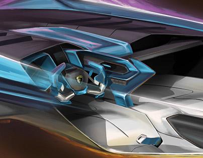 2045 Lamborghini Speedster Concept WIP